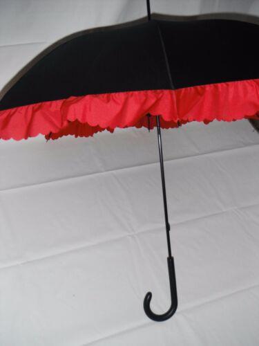 Shelta Womens Long Rain Sun Umbrella UPF 25 1889 Contrast Frill Long