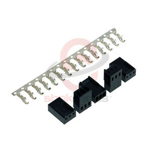 5 X Pièces Shakmods 3 Broches Femelle Noir Ventilateur Connecteur D'alimentation Pour RéDuire Le Poids Corporel Et Prolonger La Vie