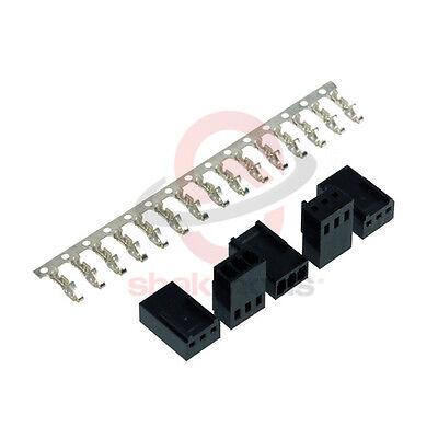 5 Unidades x Shakmods 3 Clavijas Hembra Negro Ventilador Conector Poder + 15