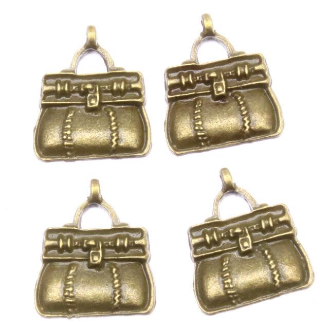 40pcs Hot Selling Vintage Bronze Tone Color Alloy Handbags Charms Pendants J