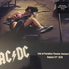 AC/DC 'LIVE AT PARADISE THEATER, BOSTON 1978 180 GRAM VINYL LP - NEW 2017 PRESS