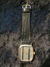 Klassische Herrenarmbanduhr von Q&Q, 8-eckiges Gehäuse, gold-grau, mechanisch