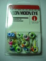 Rapala Vmc Pro Series Neon Moon Eye Jig Heads Ultra Violet Kit 10 Pack Various