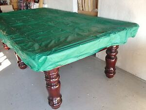 Green 7ft fitted plastic pool snooker billiard table cover for Pool table 6 x 3