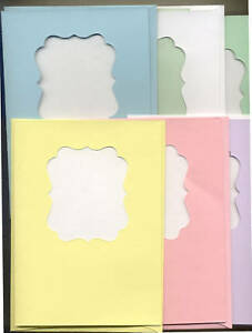blank a7 size card envelope scalloped windows pastel 6 ct ebay