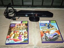 XBOX 360 KINECT SENSOR 1414 LOT KINECT ADVENTURES & JOY RIDE DISC GAME MINT