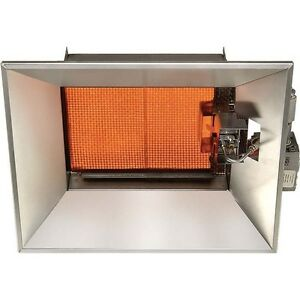 Ceramic infrared natural gas heater 30 000 btu 1 500 for How much to install a garage heater