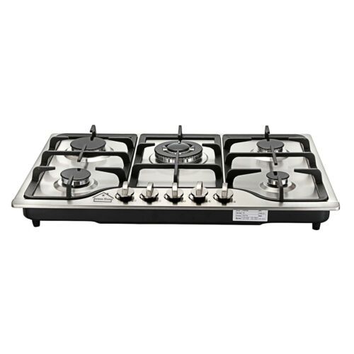 ANMASHOME Stainless Steel Gas Hob 76cm Built-in 5 Burner HS5704 /& Wok Stand UK