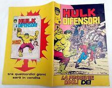 Hulk e i Difensori n. 22 edizioni Corno del 1976