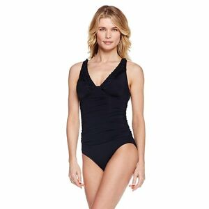 7e5d4bec68a79 Image is loading Jantzen-V-Neck-1-piece-Swimsuit-318103