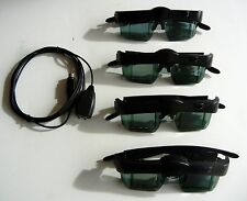 3D Glasses(4) and Emitter  For MITSUBISHI or Samsung 3DC-1000 , 3DA-1 , 3DC100S