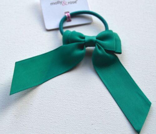 Nouveau retour à l/'école Vert crossgrain Longue Queue Nœud Ruban Cheveux Pompon