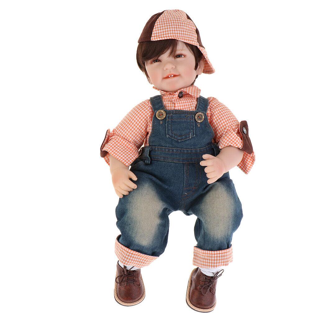 22'' Reborn Doll Baby Doll That Look Real Simulated 3 3 3 4 Silicone Cotton Body  precios bajos todos los dias