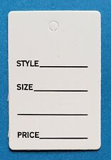 Unstrung Small White 1 Part Price Tags Retail Garment Merch Coupon No String