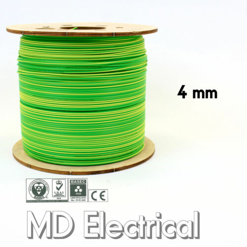 4 mm Single Core Conduit Cable 6491X Blue Brown Earth Yellow Green Bonding Wire