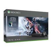 Xbox One X 1TB Star Wars Jedi Bundle Console - Xbox One X Console And Controller