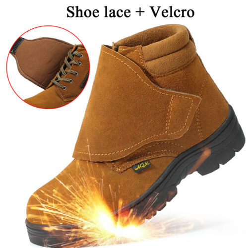 Mens Welder Safety Shoes Steel Toe Steel Sole Work Shoes Welding Boots
