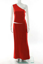 KaufmanFranco One Shoulder Red Zeta Gown Size 6 New $2895 10299573