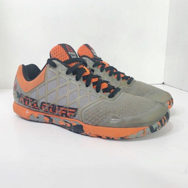 Reebok Crossfit Nano Kill Cliff Shoes Mens Size 8 Orange Gray Cross Training