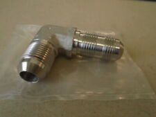 """AN833-8 Elbow 3//4/"""" Both Ends 90 Degree Flared Tube Bulkhead Fitting Steel NOS"""