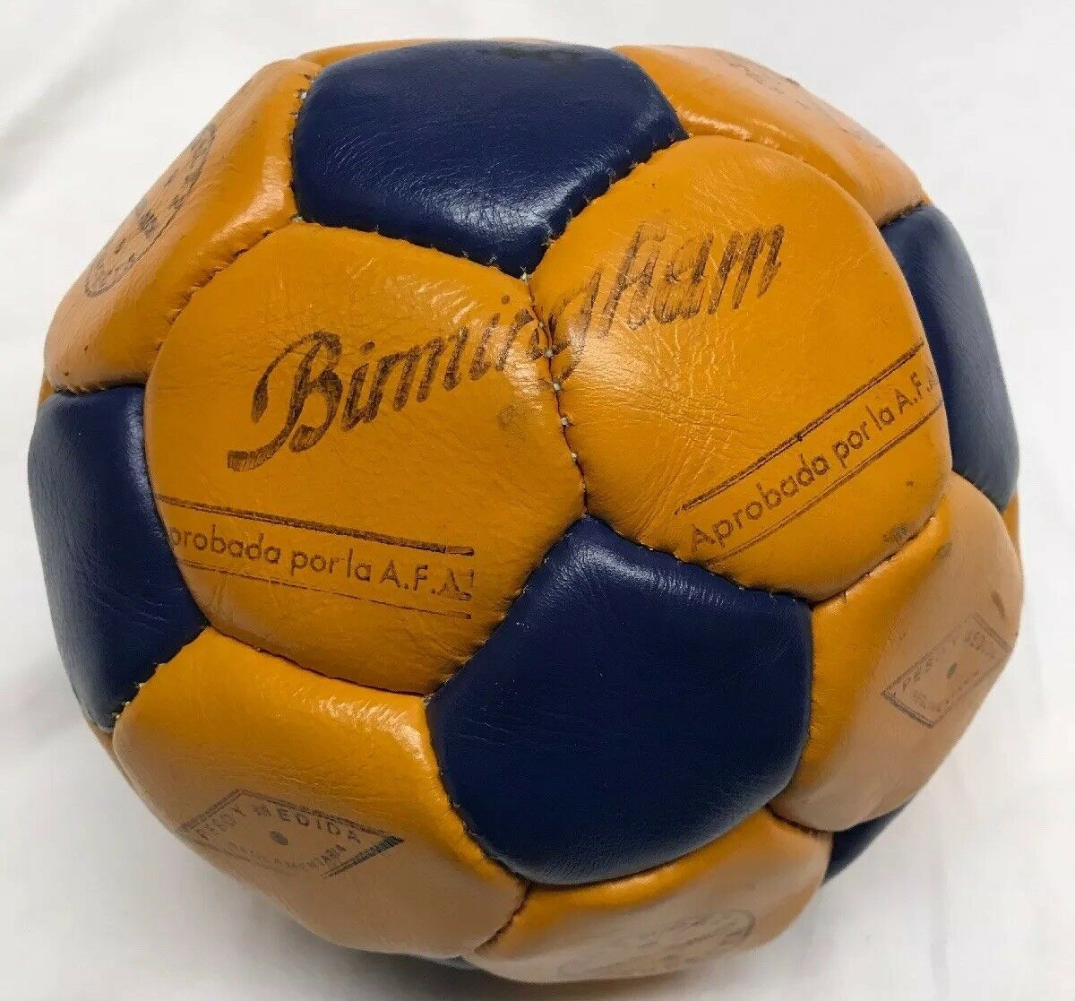 Vintage Leder Soccer Ball Possibly Argentina Football Association Birmingham