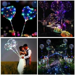 20-034-LED-accendere-LUMINOSO-BUBBLE-Palloncini-Matrimonio-Festa-Di-Compleanno-Forniture-Decor