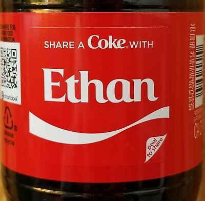 Summer 2018 Share A Coke With Ethan 20 Oz Coca Cola Collectible Bottle