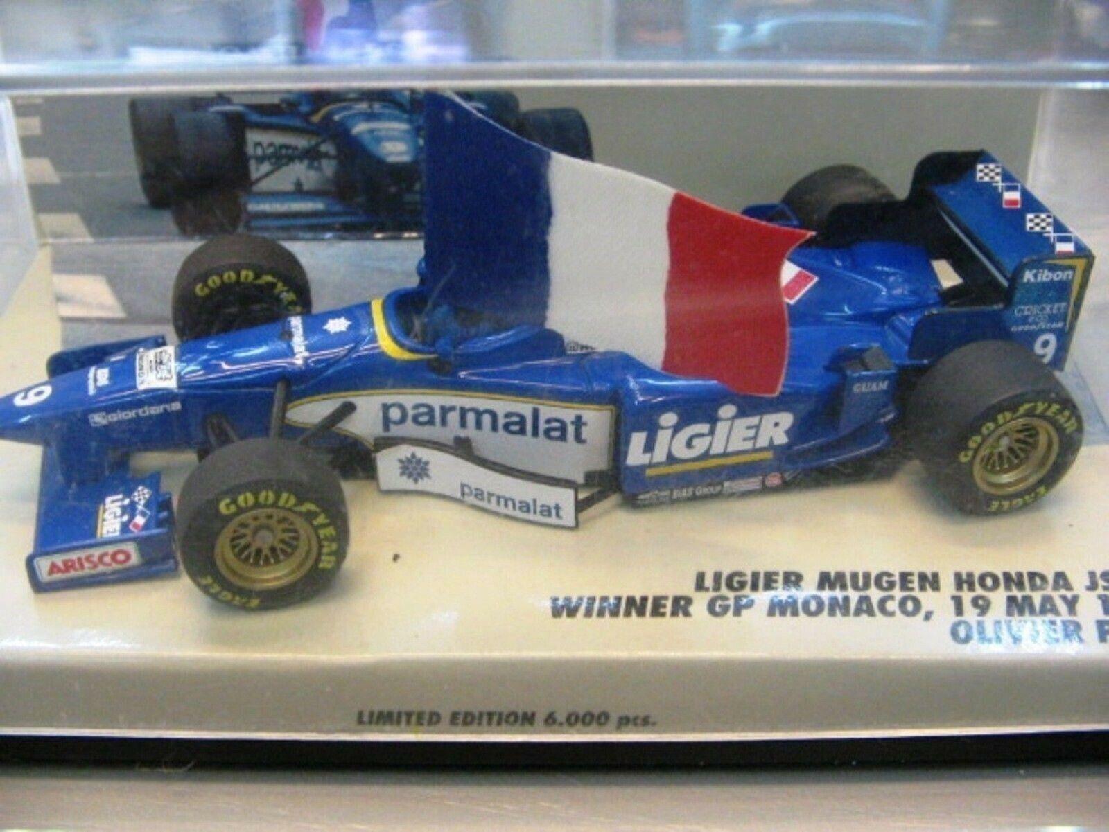 WOW estremamente raro LIGIER Mugen Honda O. Panis WINNER MONACO 1996 1 43 Minichamps