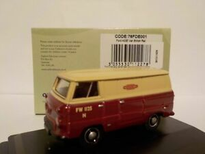 Model-Car-Ford-400E-Van-British-Rail-1-76-New