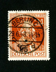 Germany-Stamps-Used-IIIAI-Berlin-25-Cancellation-Rare