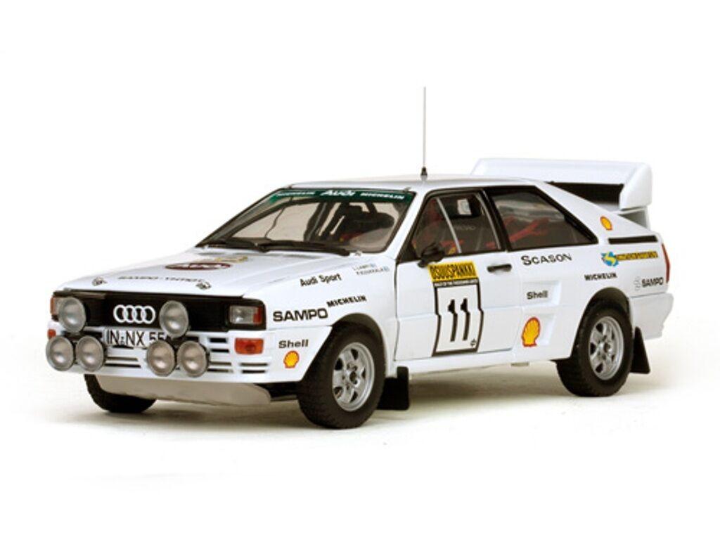 SUNSTAR 4228 Audi Quattro A2 Modelo de Coche LAMPI KUUKKALA 1000 Lagos Rally 1983 1 18