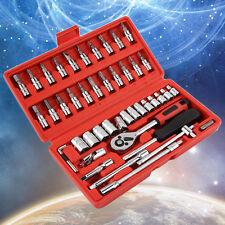 46 Pcs Car Repair Tool Combination Tool Set Spanner Screwdriver Head Set PC