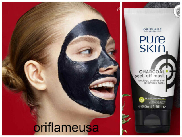 Oriflame Pure Skin Charcoal Peel Off Mask 50ml For Sale Online Ebay