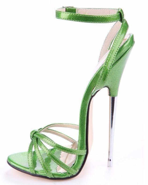 per il commercio all'ingrosso New donna Open Toe Sandals Super High Heel Stilettos Pumps Pumps Pumps Gladiator scarpe Dimensione  ecco l'ultimo