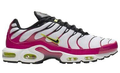 Nike Air Max Plus Fuchsia White Black Rush Pink Yellow CJ9929 100 Mens Size 8 13 | eBay
