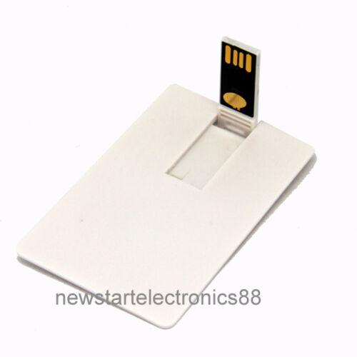 Lot 10 16GB Credit Card USB Flash Drive 16G Wafer Bank DIY Business Wallet Bulk
