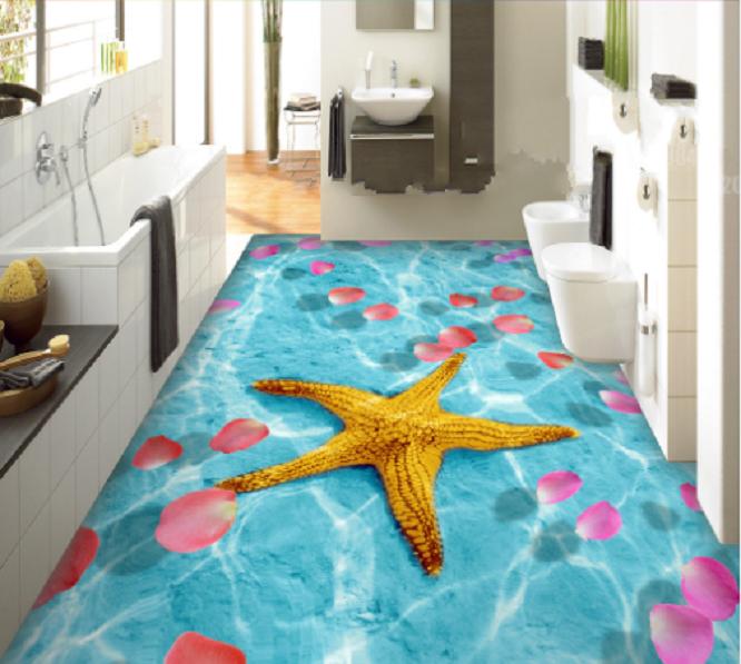 3D Petals Starfish 6 Floor WallPaper Murals Wall Print Decal AJ WALLPAPER Summer