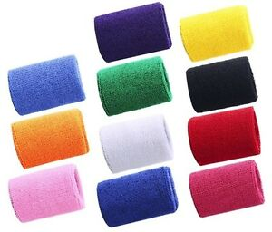 NEON-UV-COLOUR-Sweatband-Wrist-Bands-SETS-OF-2-Sports-Party-Wear-NEW