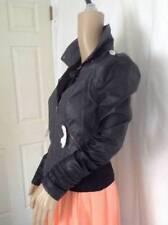 Vero Moda size S Vegan Motor Leather Jacket, Gray