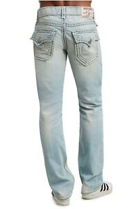 True Religion STRAIGHT FIT ROPESTITCH SUPER T MENS JEANS size 34 ... 524d884552015