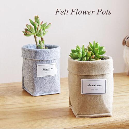 Basket Nordic Storage Succulents Printing Cards Green Plant Felt Flower Pots