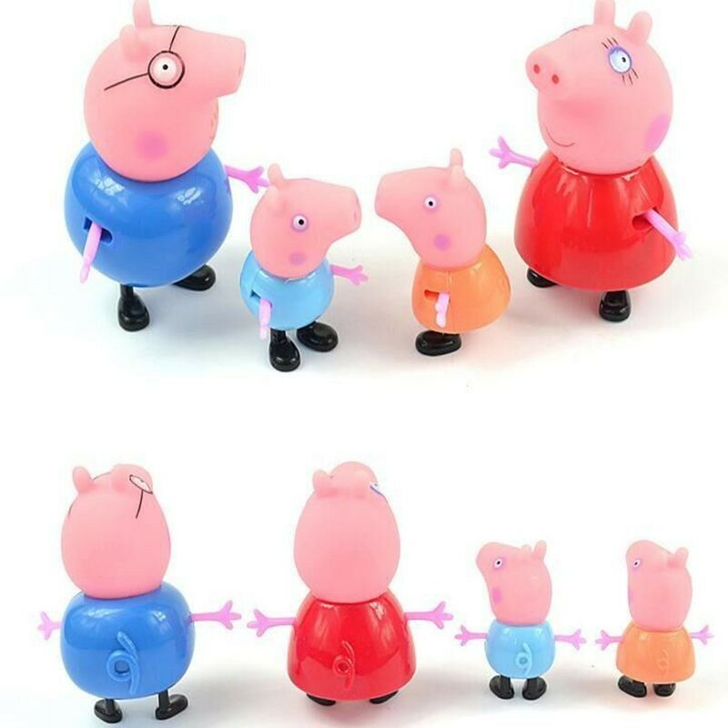 Peppa Pig Toys : Pcs peppa pig toy family action figures toys gift daddy