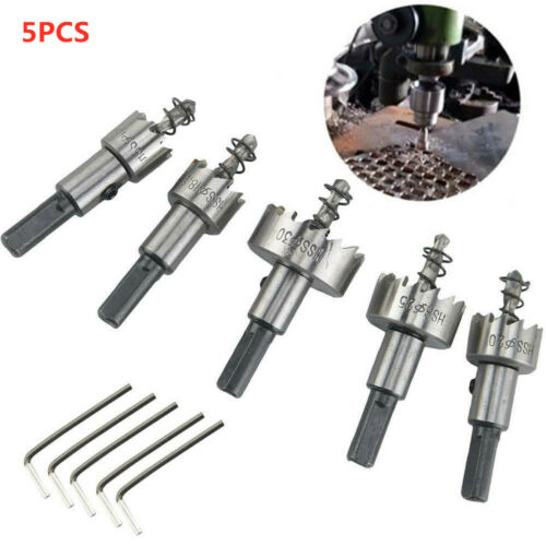 5x Hole Saw Tooth HSS Stainless Steel Drill Bit Set Cutter Tool For Metal Wood