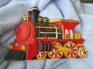 Christmas Train Cast.Details About Vintage Metal Cast Iron Christmas Train Engine Locomotive Doorstop