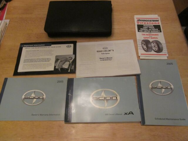 2005 Scion Xa Owner Manual With Case Oem Owners