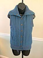 Bcbg Max Azria Teal Zip Up Vest Retail $138 - Xsmall