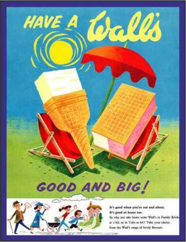 Have as walls ice cream good and big retro vintage style metal wall plaque sign