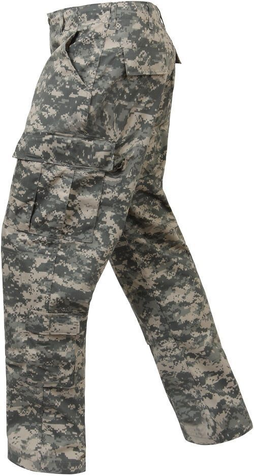 ACU ARMY DIGITAL CAMO 5755 redHCO COMBAT UNIFORM PANTS POLY COTTON RIP-STOP MEN