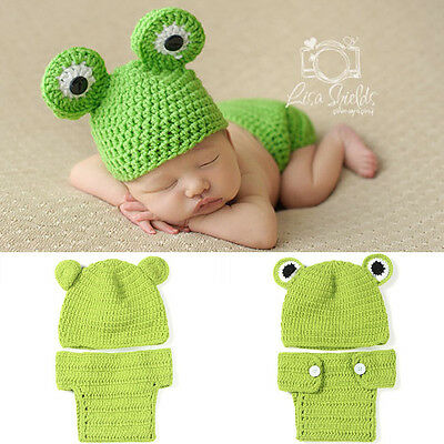 Super Mario baby photography suit Newborn Knit Crochet Clothes Photo Prop outfit