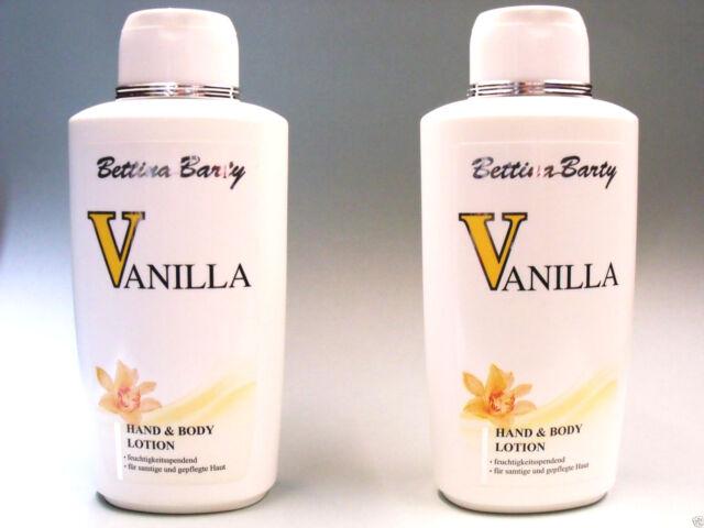 Bettina Barty  Vanilla   Hand & Body Lotion  2 x 500 ml  (EUR 14,40 / L)